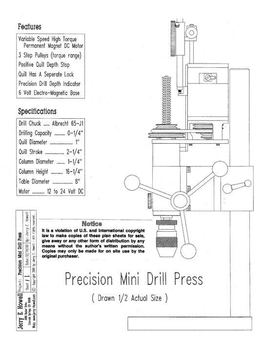 Drill Press Plans