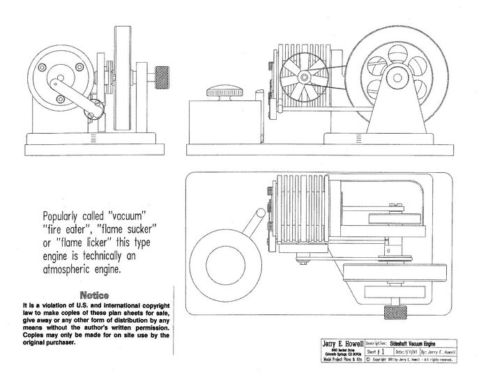 Sideshaft vacuum engine plans for Stirling engine plans design blueprints
